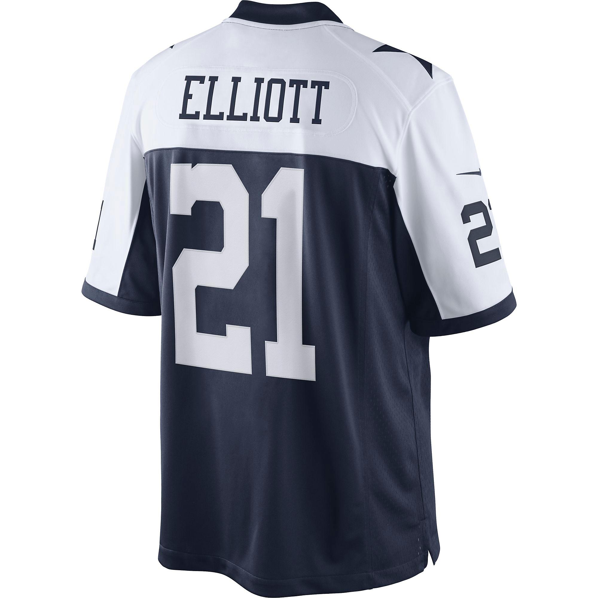 buy online db546 26dfa Dallas Cowboys Ezekiel Elliott #21 Nike Throwback Limited ...