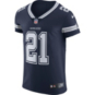 Dallas Cowboys Ezekiel Elliott #21 Nike Navy Vapor Elite Authentic Jersey