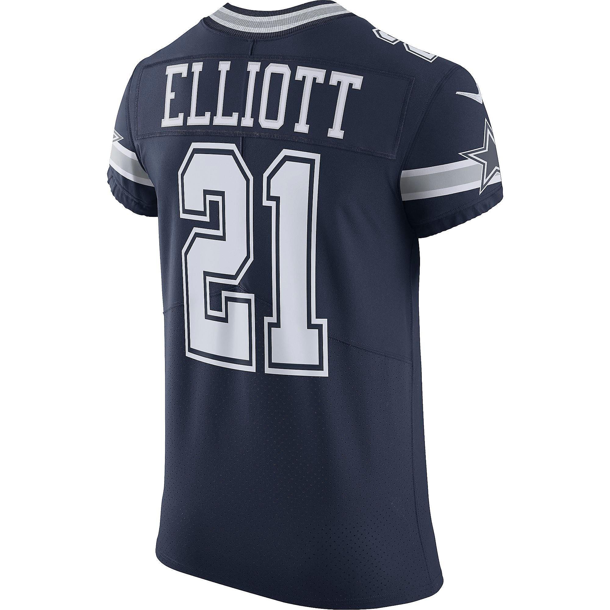 Dallas Cowboys Ezekiel Elliott #21 Nike Navy Vapor Elite Authentic Jersey