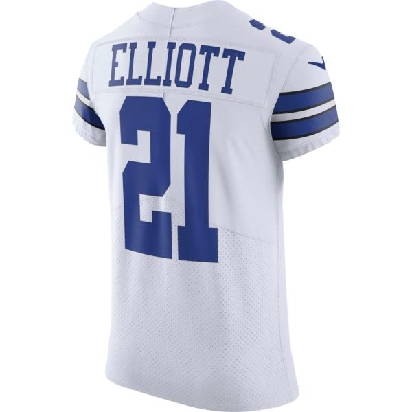 Dallas Cowboys Ezekiel Elliott #21 Nike Vapor Untouchable White Elite Authentic Jersey