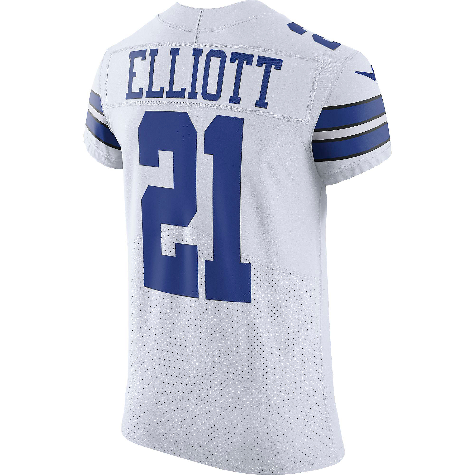 Dallas Cowboys Ezekiel Elliott #21 Nike White Vapor Elite Authentic Jersey