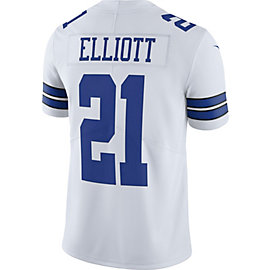 Dallas Cowboys Ezekiel Elliott #21 Nike White Limited Jersey