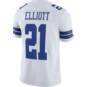 Dallas Cowboys Ezekiel Elliott #21 Nike White Vapor Limited Jersey