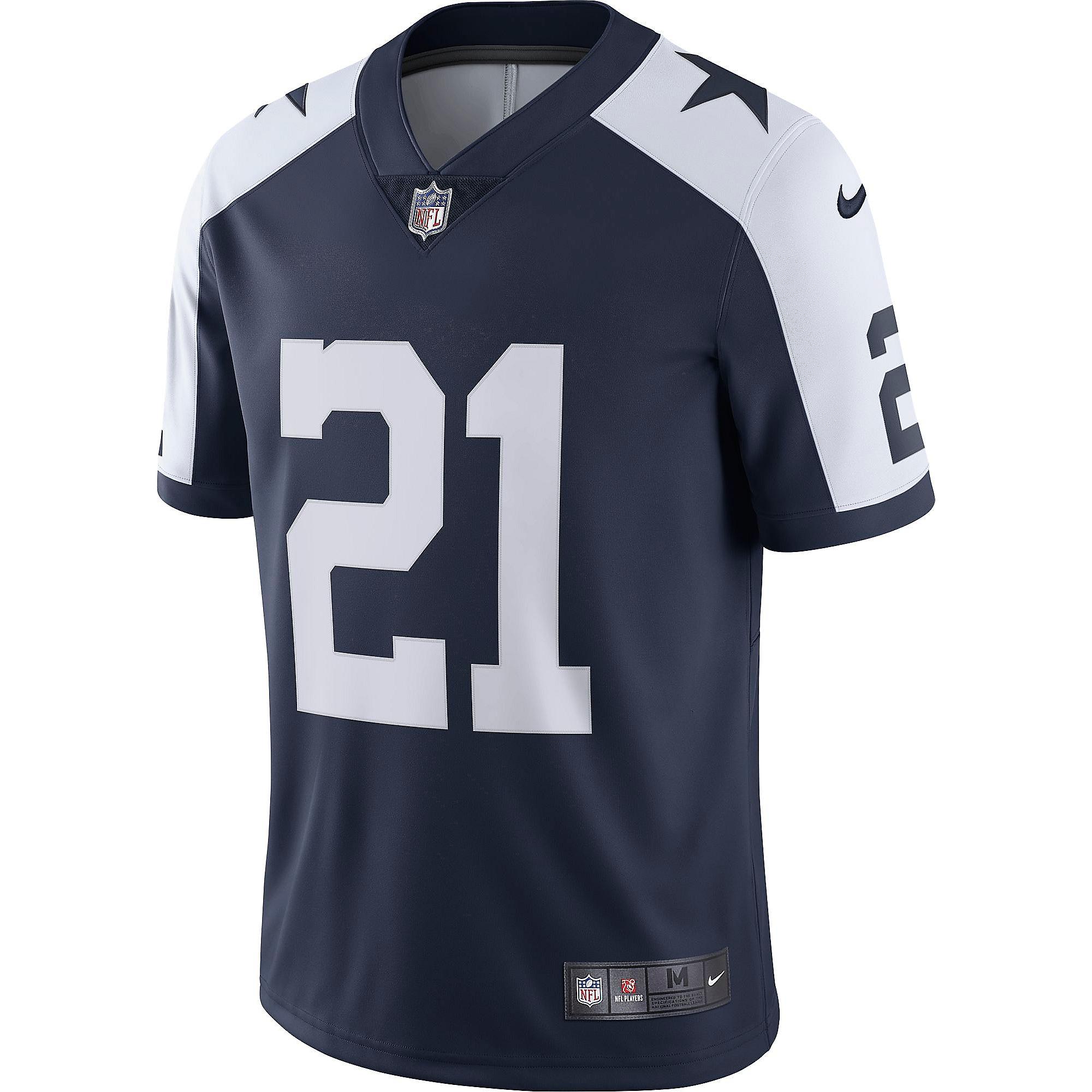 uk availability 98c92 e00a6 Dallas Cowboys Ezekiel Elliott #21 Nike Vapor Untouchable ...