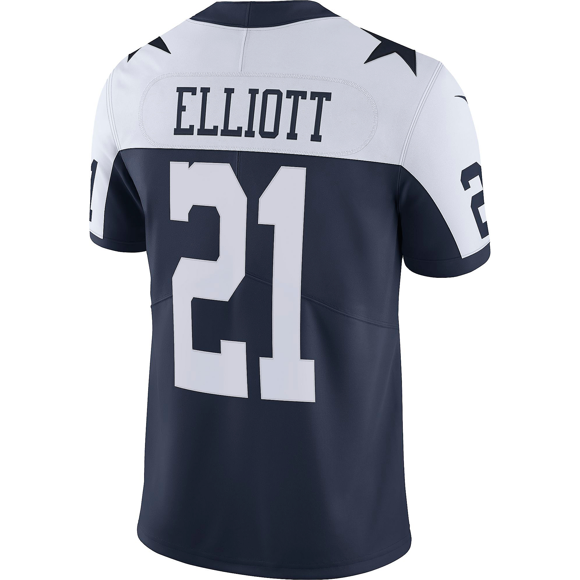 Dallas Cowboys Ezekiel Elliott #21 Nike Vapor Untouchable Limited Throwback Jersey