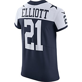 Dallas Cowboys Ezekiel Elliott #21 Nike Elite Authentic Throwback Jersey
