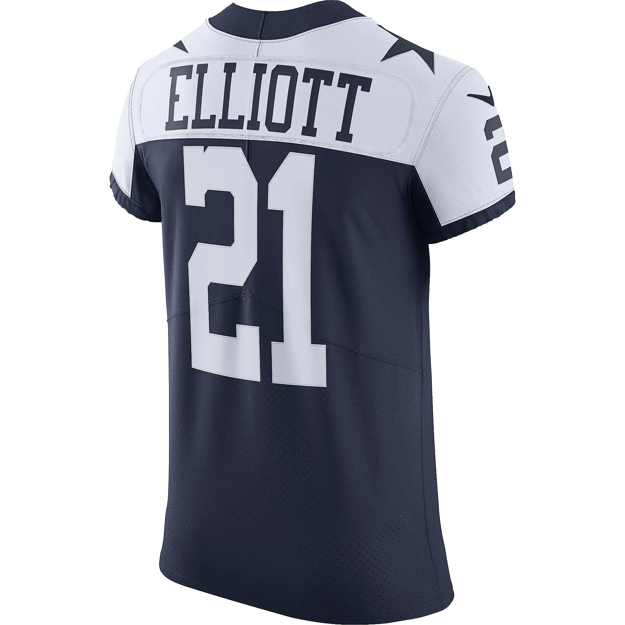 Dallas Cowboys Ezekiel Elliott #21 Nike Vapor Elite Authentic Throwback Jersey