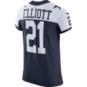 Dallas Cowboys Ezekiel Elliott #21 Nike Vapor Untouchable Elite Authentic Throwback Jersey