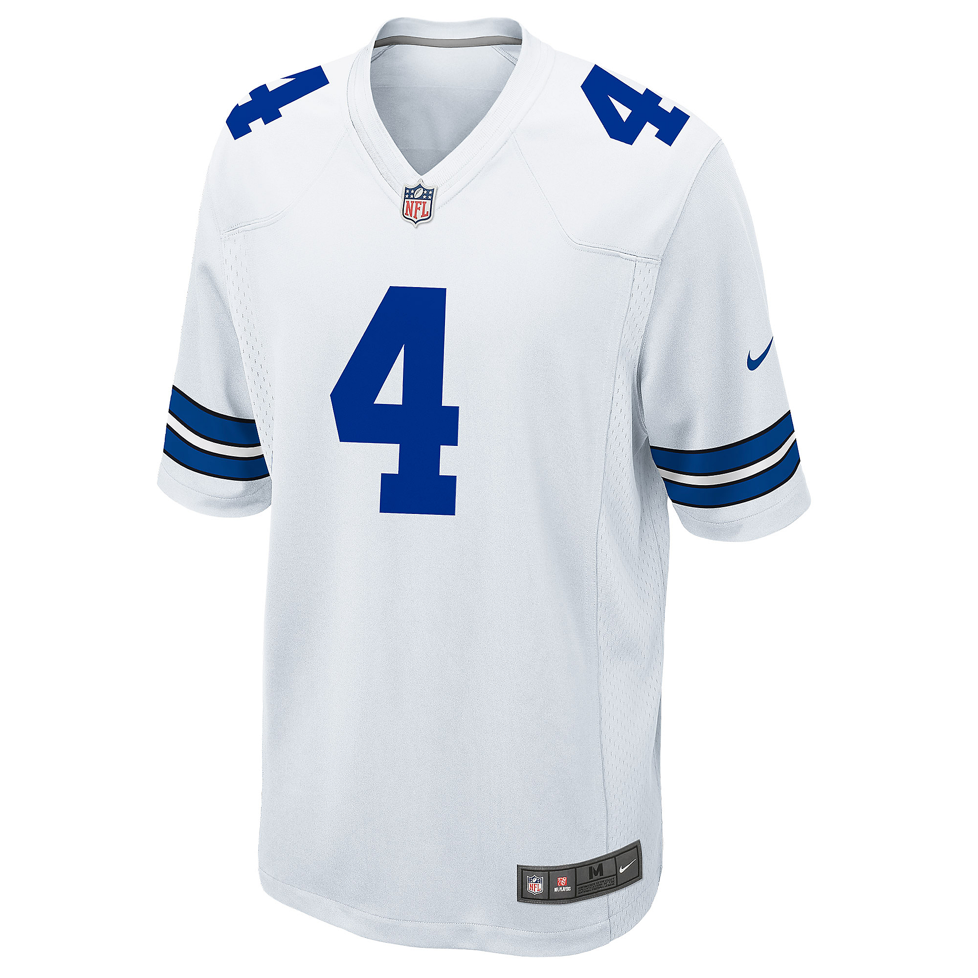 uk availability 54d9a 8653c Dallas Cowboys Dak Prescott Nike White Game Replica Jersey | Dallas Cowboys  Pro Shop