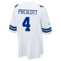 Dallas Cowboys Dak Prescott Nike White Game Replica Jersey