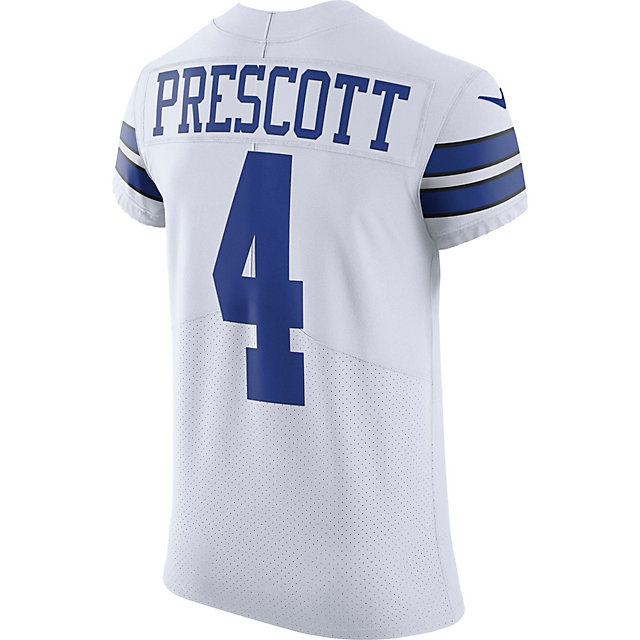 Dallas Cowboys Dak Prescott #4 Nike White Elite Authentic Jersey