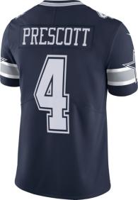 Dallas Cowboys Dak Prescott #4 Nike Vapor Untouchable Navy Limited Jersey