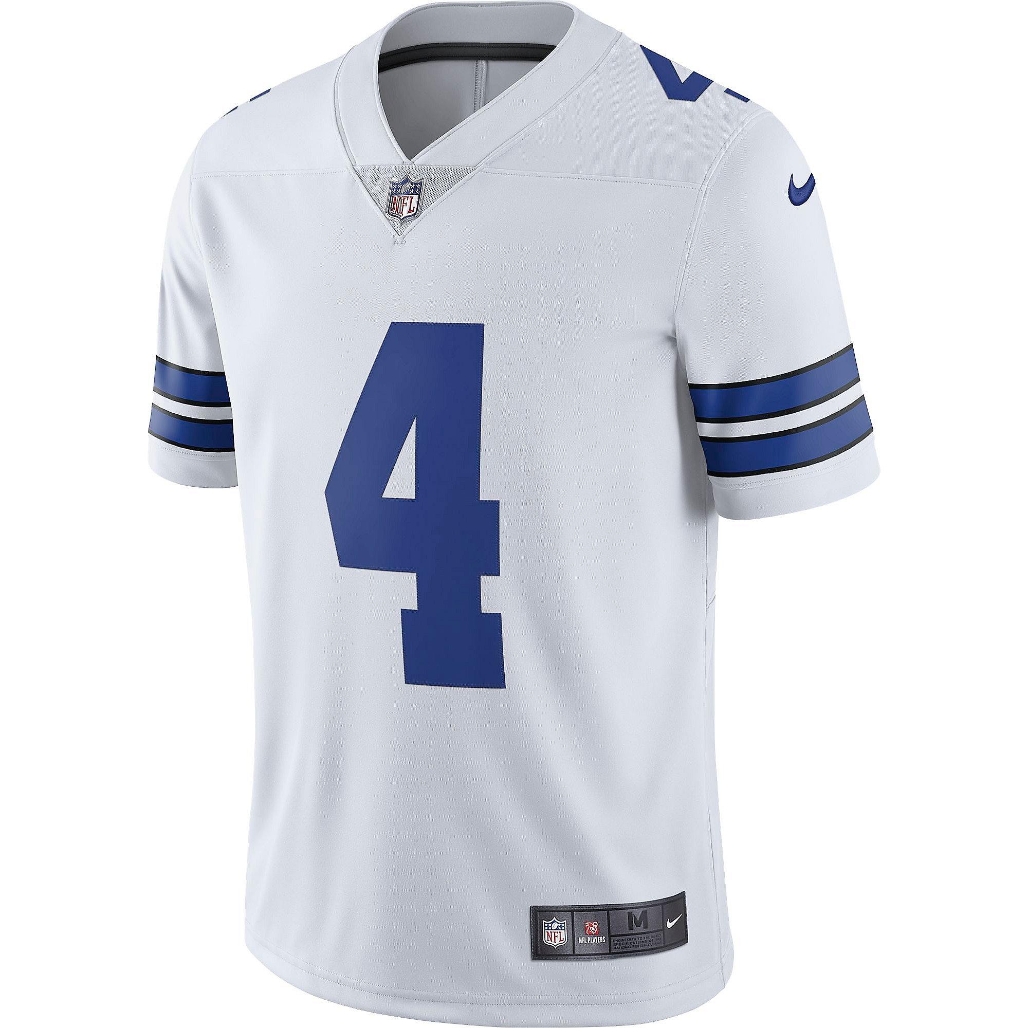 Dallas Cowboys Dak Prescott #4 Nike White Vapor Limited Jersey ...