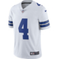 Dallas Cowboys Dak Prescott #4 Nike White Vapor Limited Jersey