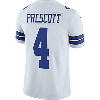 5439d07e3 Dallas Cowboys Dak Prescott #4 Nike Vapor Untouchable White Limited Jersey