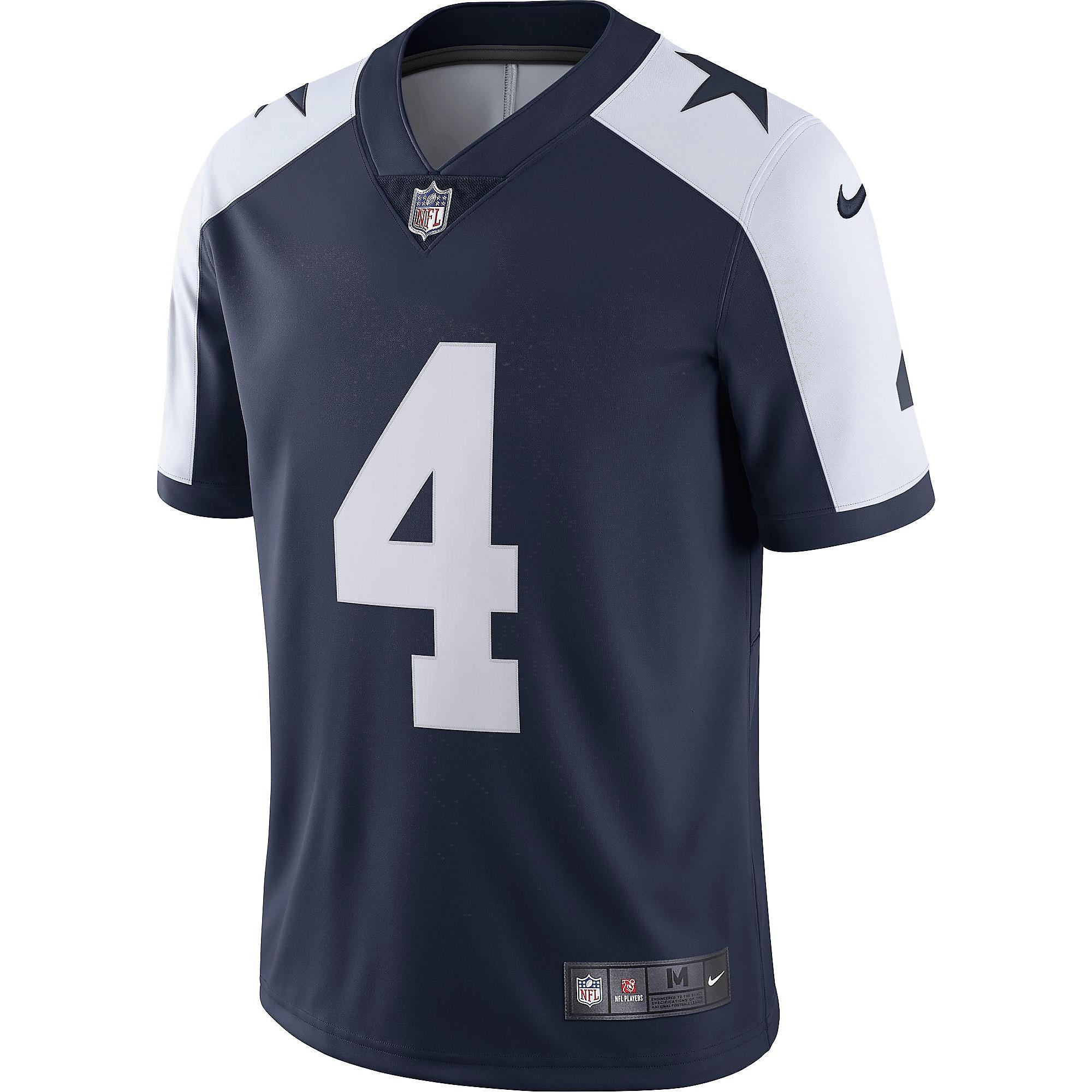 9c9329bed ... Dallas Cowboys Dak Prescott #4 Nike Vapor Untouchable Limited Throwback  Jersey ...