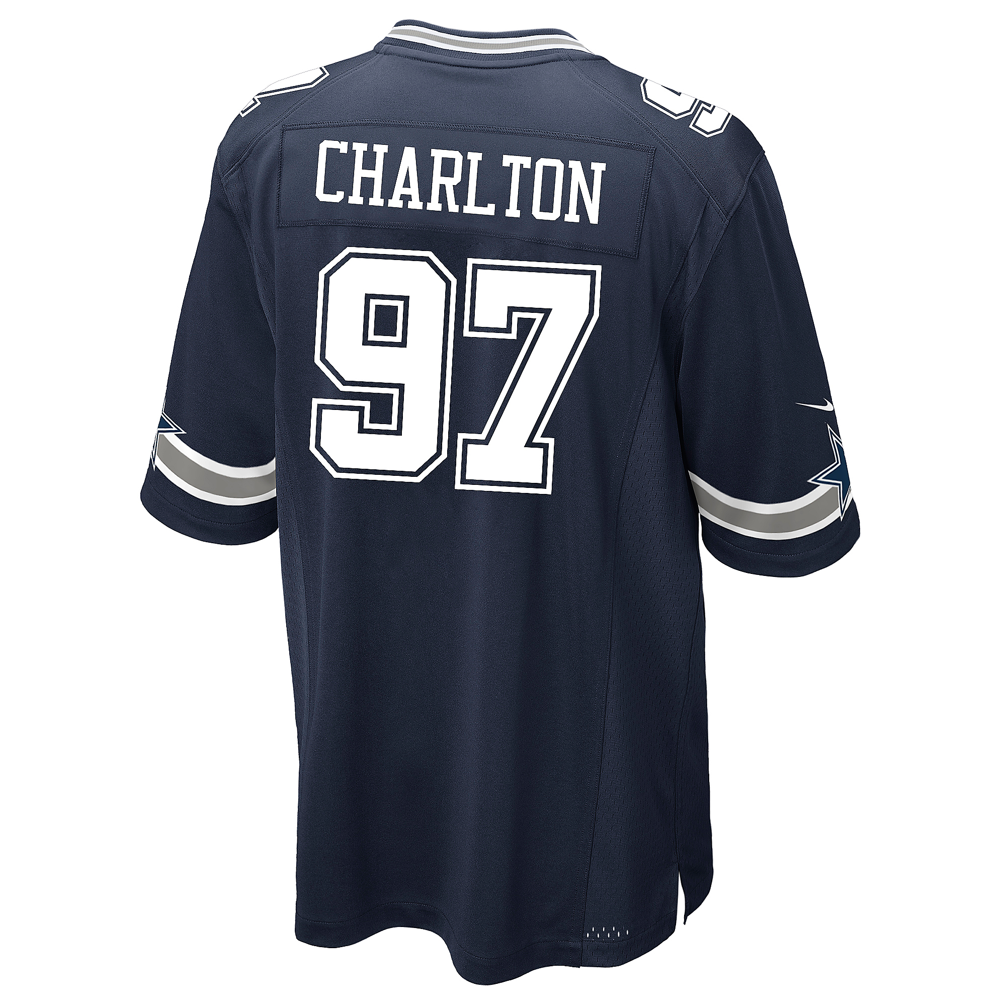 Dallas Cowboys Taco Charlton Nike Navy Game Replica Jersey  a4d0f5e8b