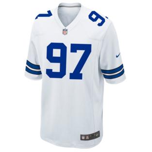 Dallas Cowboys Taco Charlton Nike White Game Replica Jersey