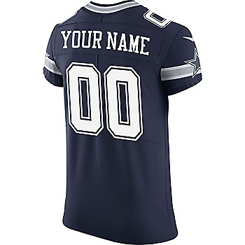 Dallas Cowboys Custom Nike Navy Vapor Untouchable Elite Jersey