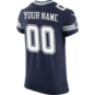 Dallas Cowboys Custom Nike Navy Vapor Elite Authentic Jersey