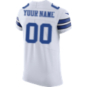 Dallas Cowboys Custom Nike White Vapor Elite Authentic Jersey