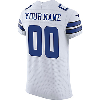 Dallas Cowboys Custom Nike White Vapor Untouchable Elite Authentic Jersey