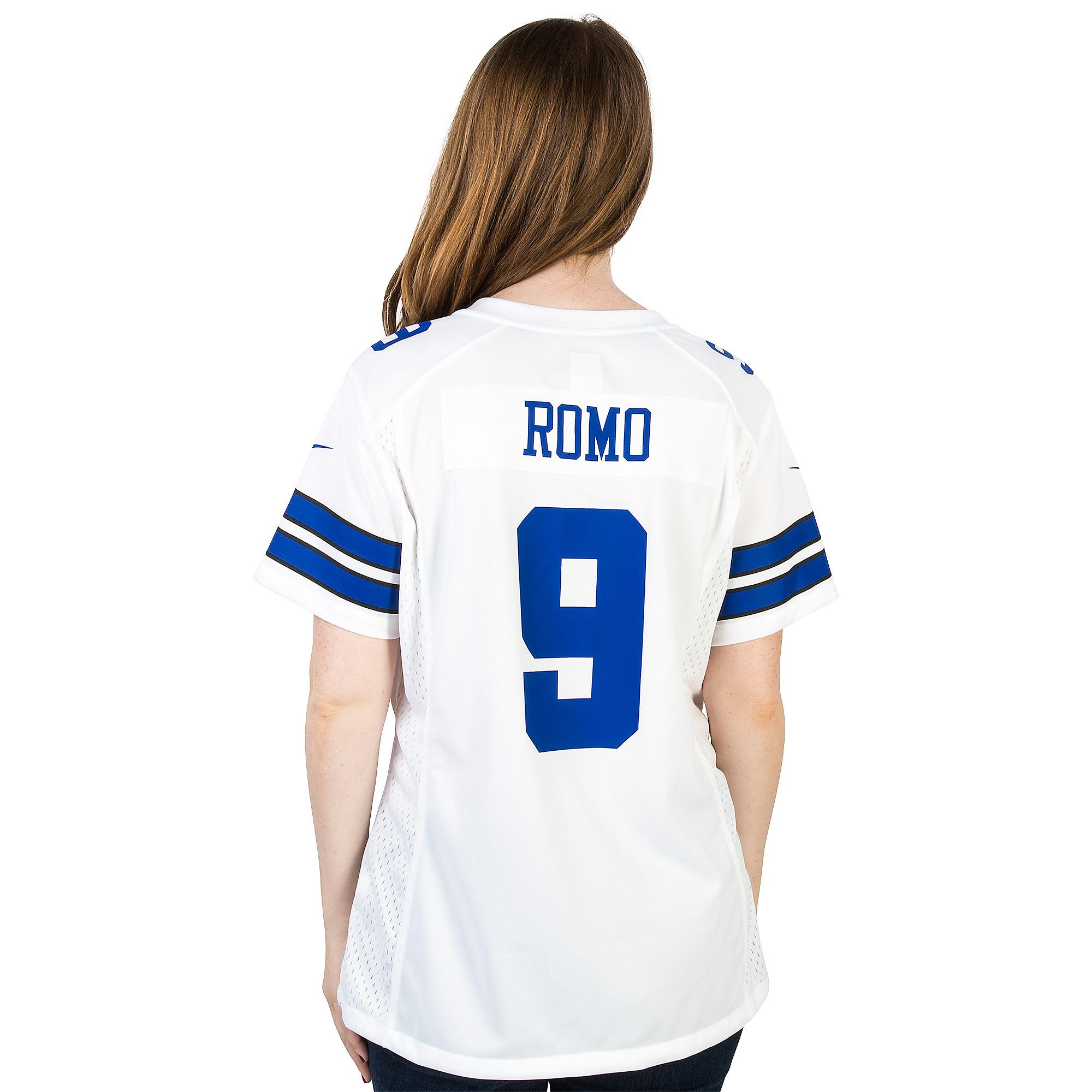 new arrival 9e930 ca756 Dallas Cowboys Womens Tony Romo #9 Nike White Game Replica Jersey   Dallas  Cowboys Pro Shop