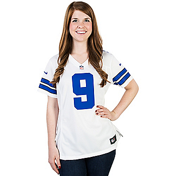 Dallas Cowboys Womens Tony Romo #9 Nike White Game Replica Jersey