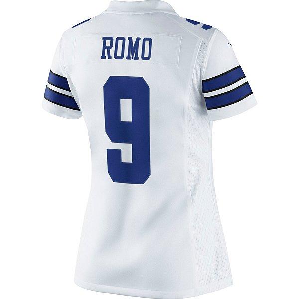 Dallas Cowboys Womens Tony Romo #9 Nike White Limited Jersey