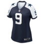 Dallas Cowboys Womens Tony Romo #9 Limited Throwback Jersey