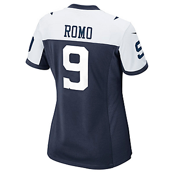 Dallas Cowboys Womens Tony Romo #9 Limited Throwback Jersey