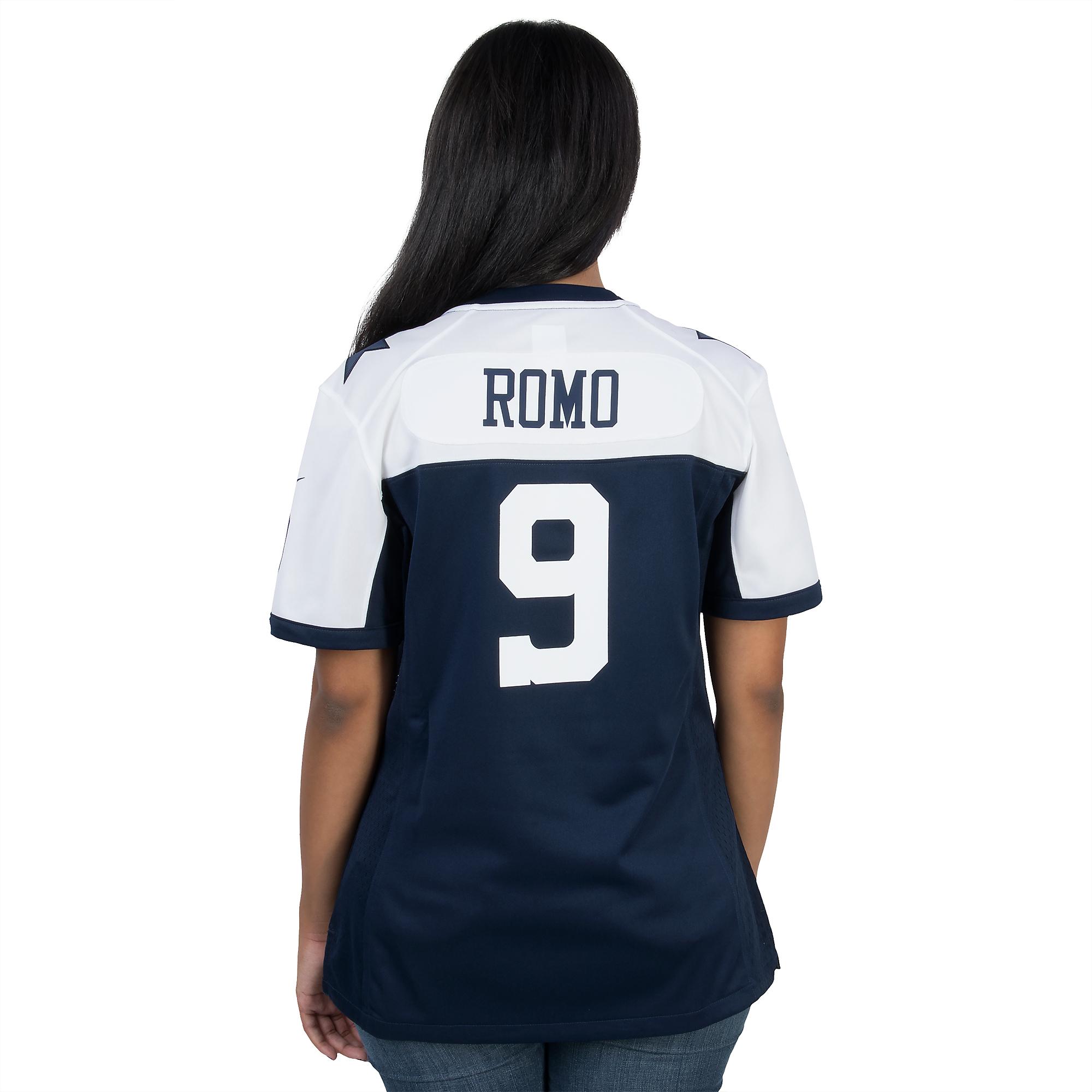 san francisco 040f8 598ff Dallas Cowboys Womens Tony Romo #9 Nike Game Throwback ...