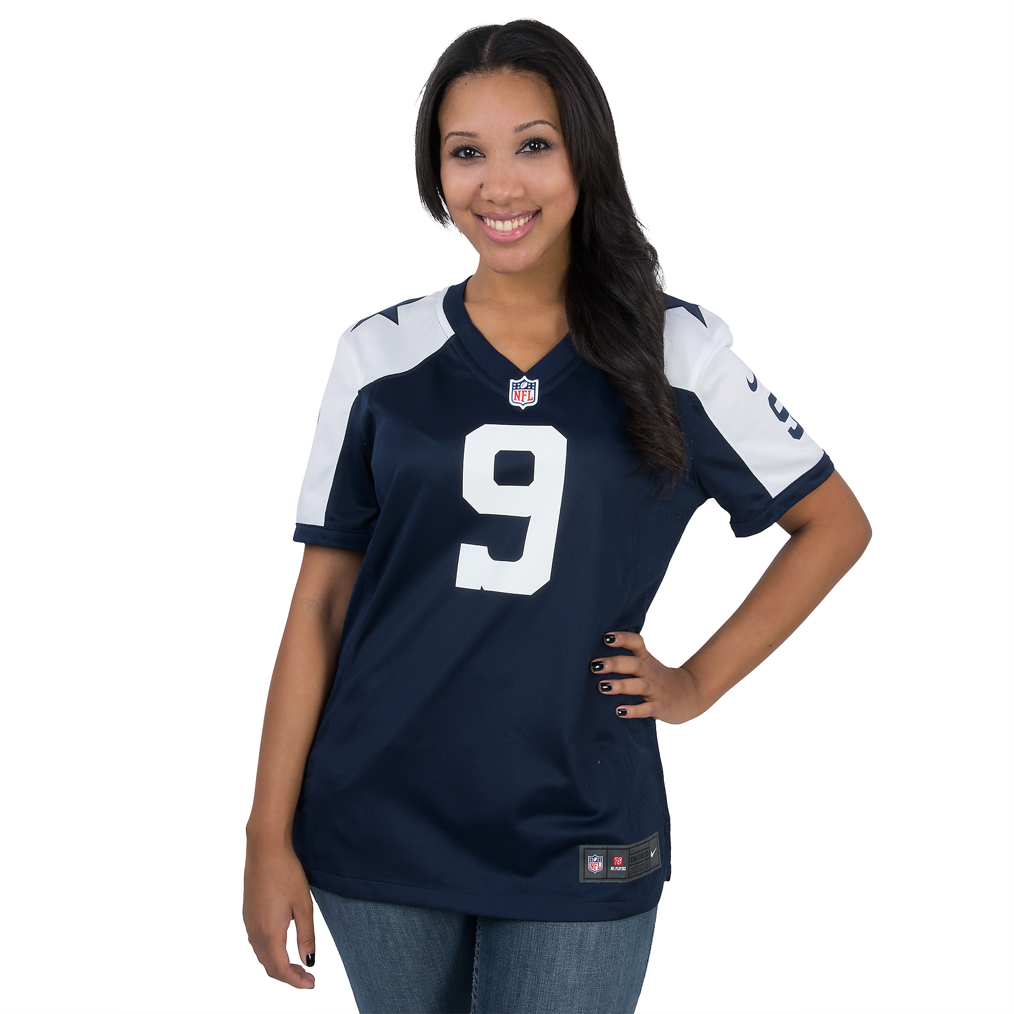 online store 70a29 d89ca Dallas Cowboys Womens Tony Romo #9 Nike Game Throwback Jersey