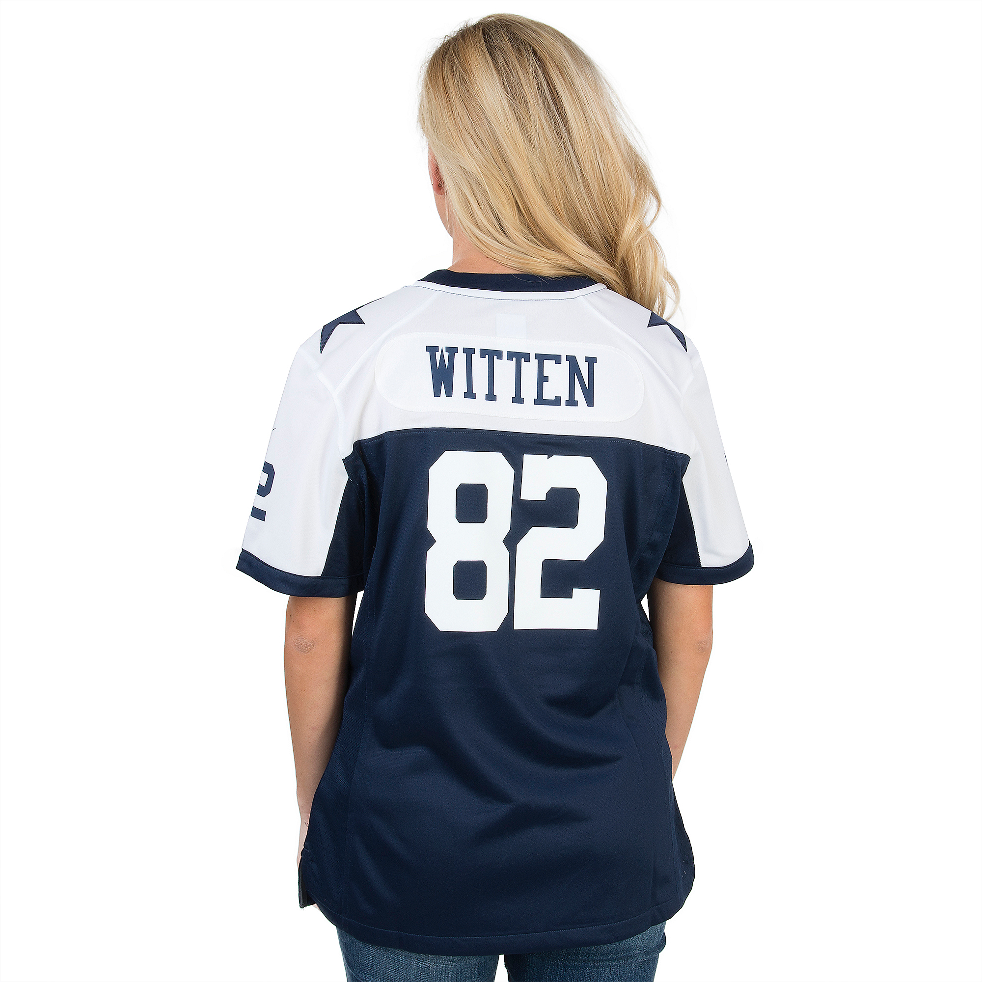 948c73abda5 Dallas Cowboys Womens Jason Witten  82 Nike Game Throwback Jersey ...