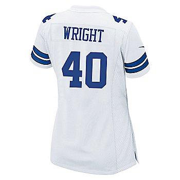 Dallas Cowboys Womens Custom Nike White Game Replica Jersey