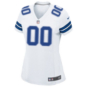 Dallas Cowboys Womens Custom Nike White Game Replica Jersey