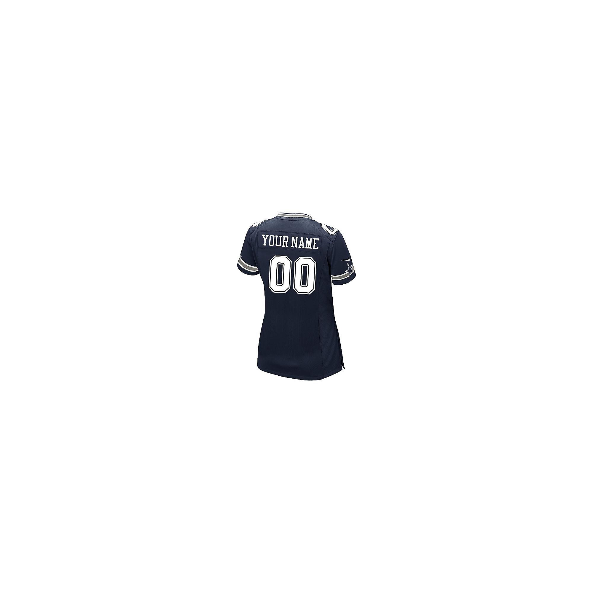 Dallas Cowboys Womens Custom Nike Navy Game Replica Jersey ... 62966c998
