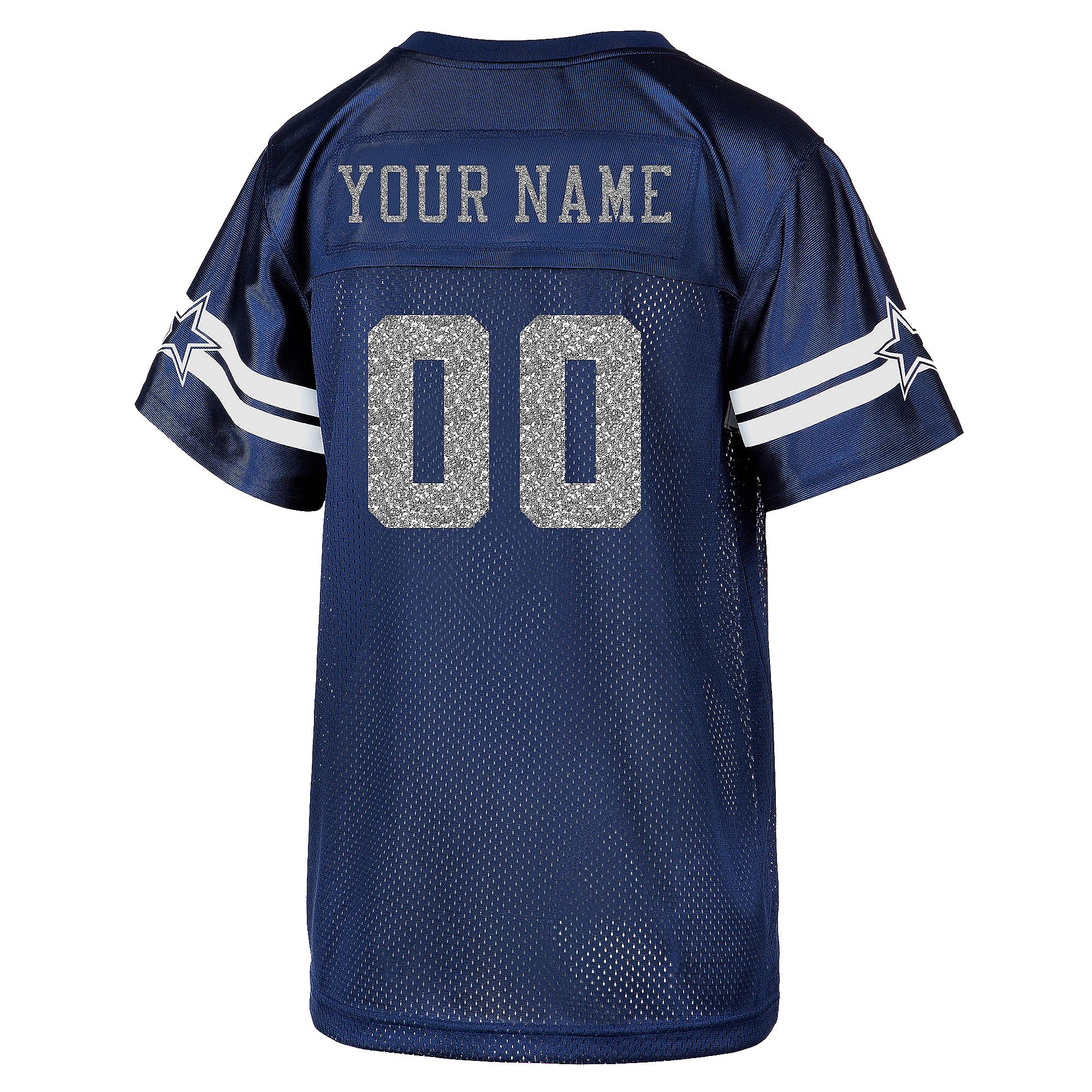 big sale f5e88 4ef3c Dallas Cowboys Womens Custom Glitter Jersey | Dallas Cowboys ...