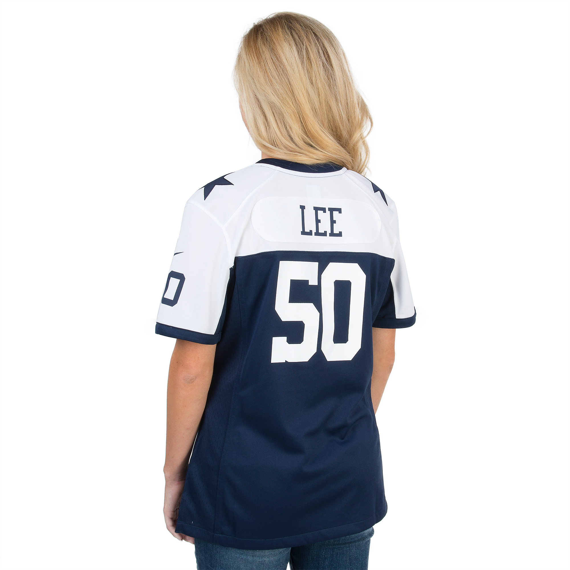 online retailer a6b62 12b59 Dallas Cowboys Womens Sean Lee #50 Nike Game Throwback ...