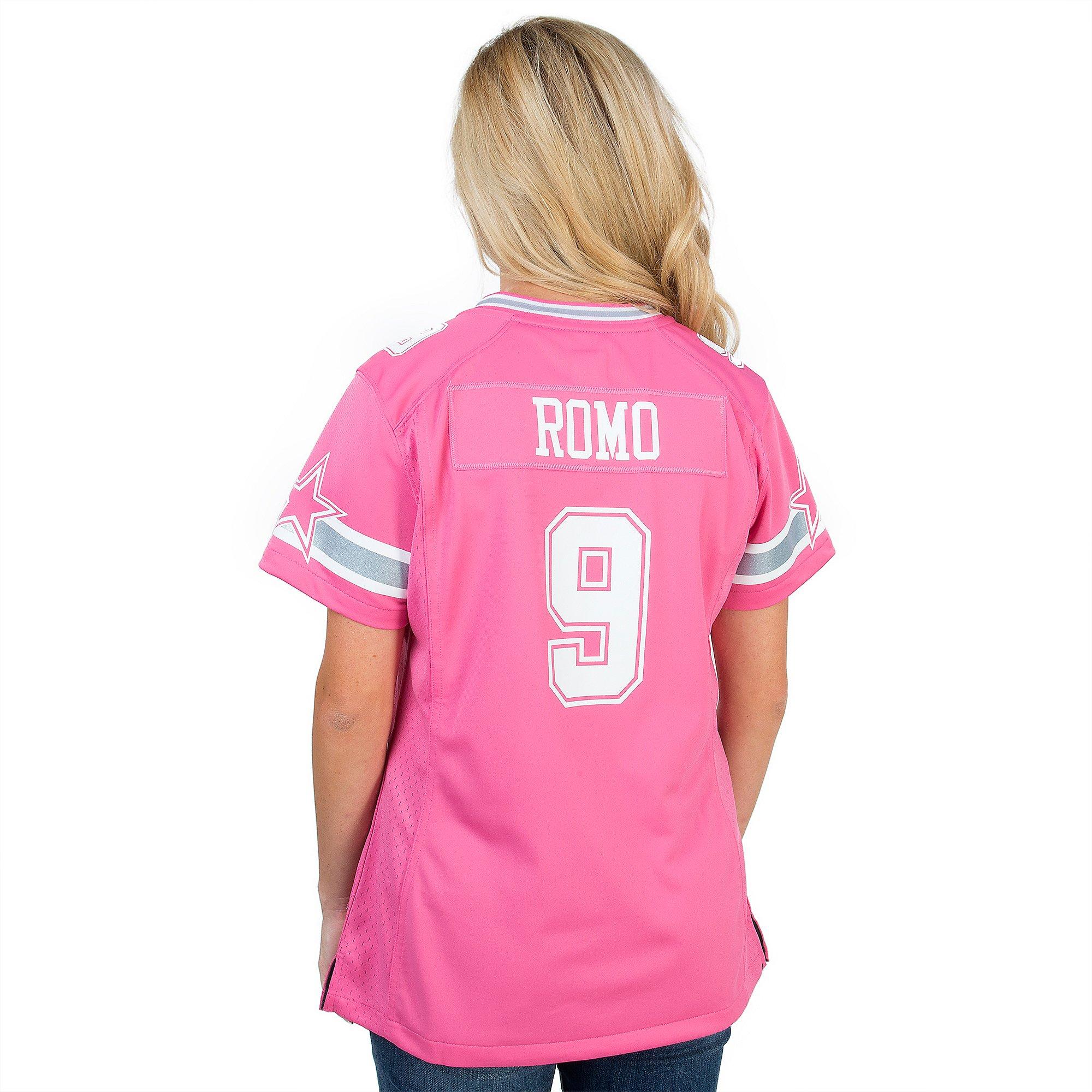 Dallas Cowboys Women's Tony Romo #9 Pink Jersey   Dallas Cowboys ...