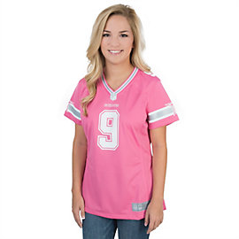 Dallas Cowboys Womens Tony Romo #9 Pink Jersey