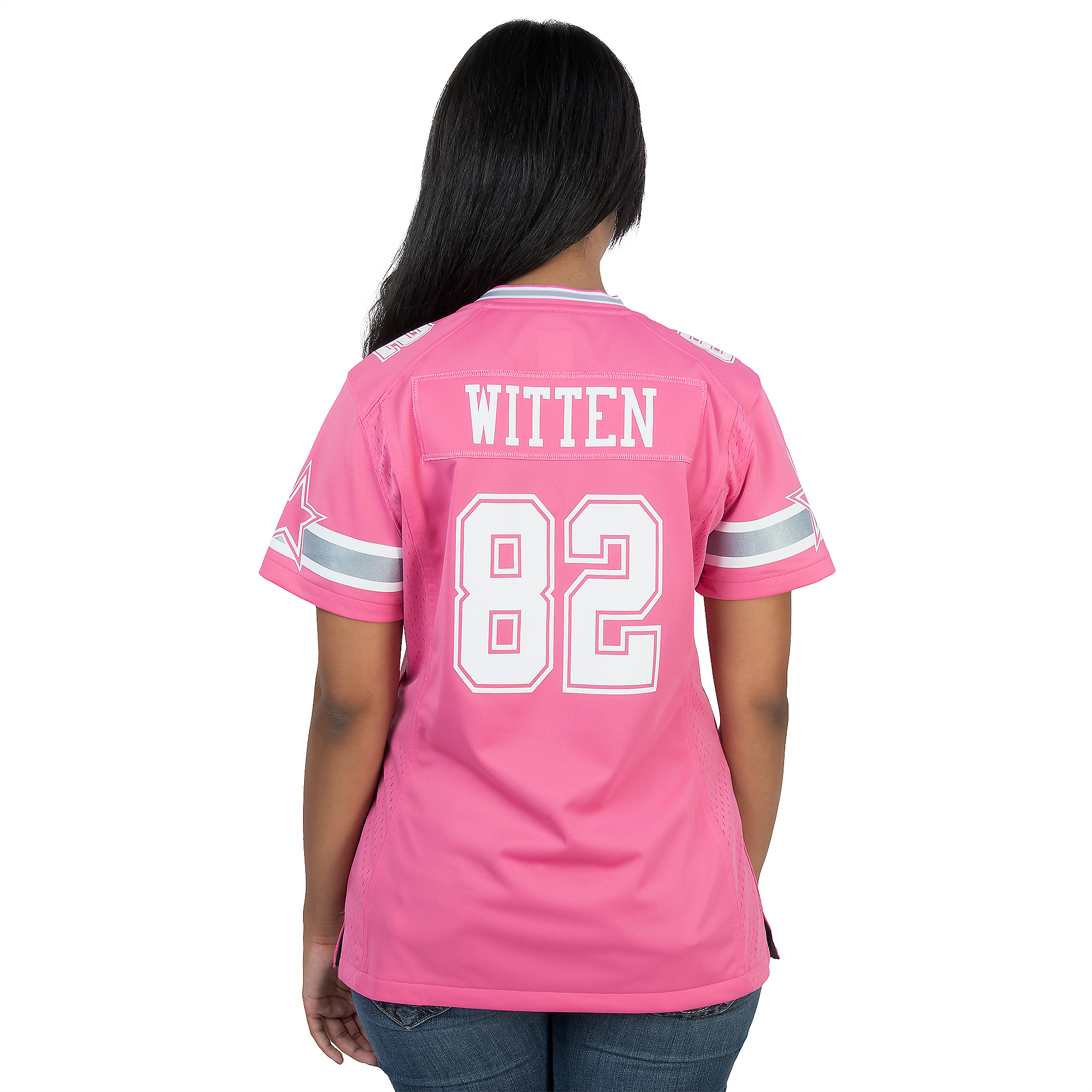 3f6f2d6bb Dallas Cowboys Womens Jason Witten  82 Pink Jersey ...