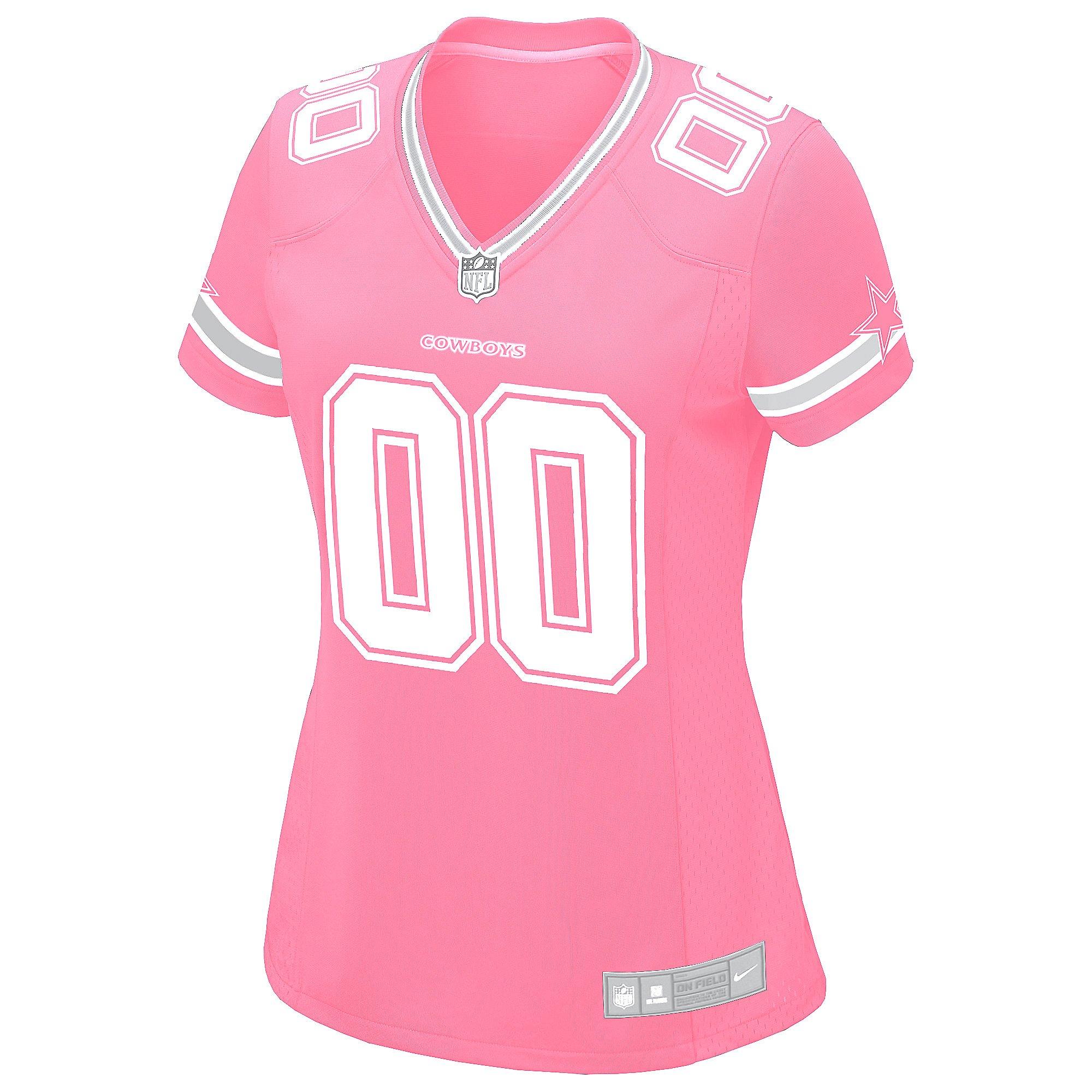 Dallas Cowboys Womens Custom Pink Replica Jersey | Dallas Cowboys ...