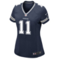 Dallas Cowboys Womens Cole Beasley #11 Nike Navy Game Replica Jersey