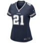 Dallas Cowboys Womens Ezekiel Elliott Nike Navy Game Replica Jersey