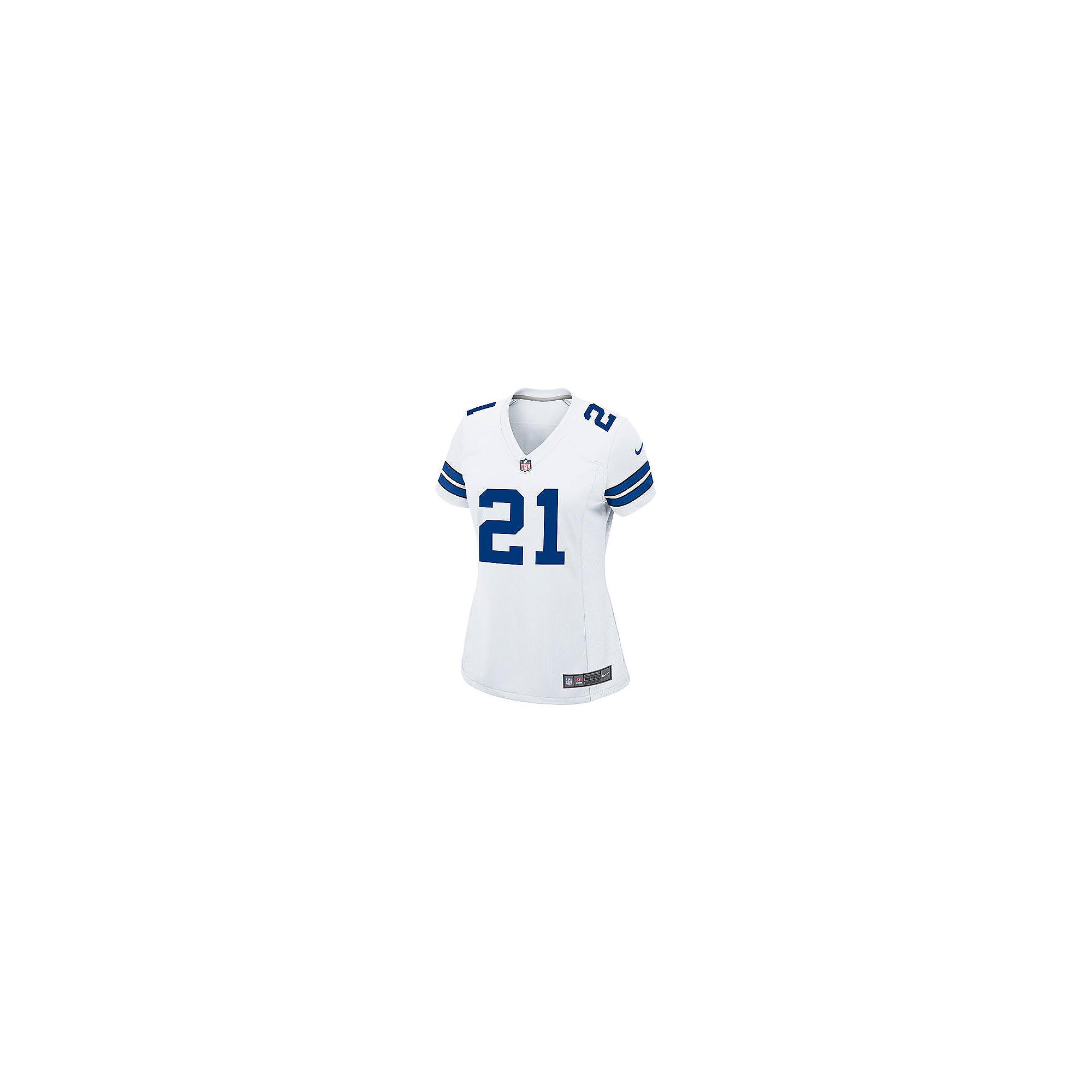 1ea4e21e Dallas Cowboys Womens Ezekiel Elliott Nike White Game Replica Jersey ...