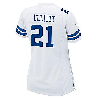 Dallas Cowboys Womens Ezekiel Elliott Nike White Game Replica Jersey