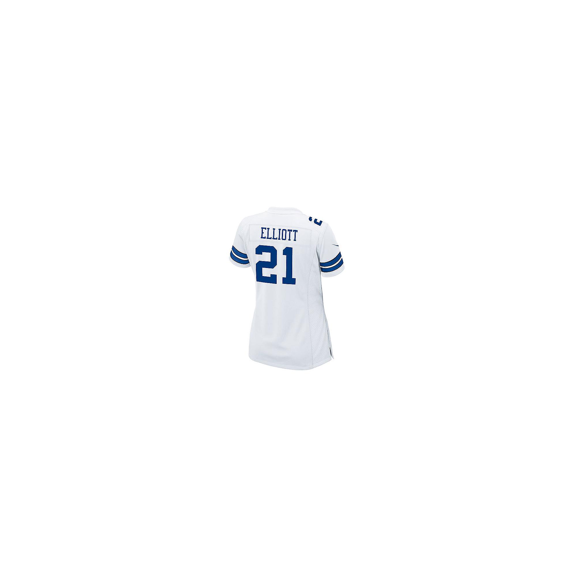 5586b5b9 Dallas Cowboys Womens Ezekiel Elliott Nike White Game Replica Jersey    Dallas Cowboys Pro Shop