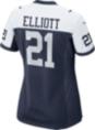 Dallas Cowboys Womens Ezekiel Elliott #21 Nike Game Throwback Jersey