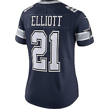 Dallas Cowboys Womens Ezekiel Elliott #21 Nike Navy Vapor Limited Jersey